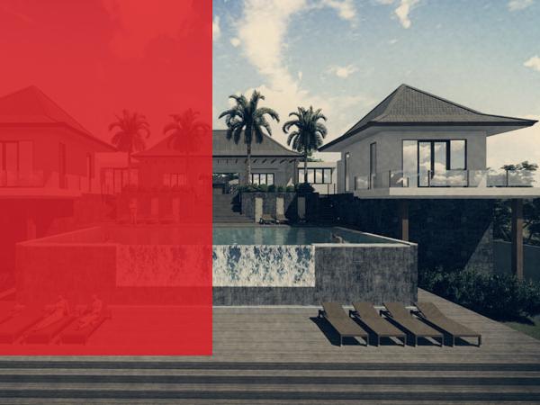 Villa de rendu 3D Bali