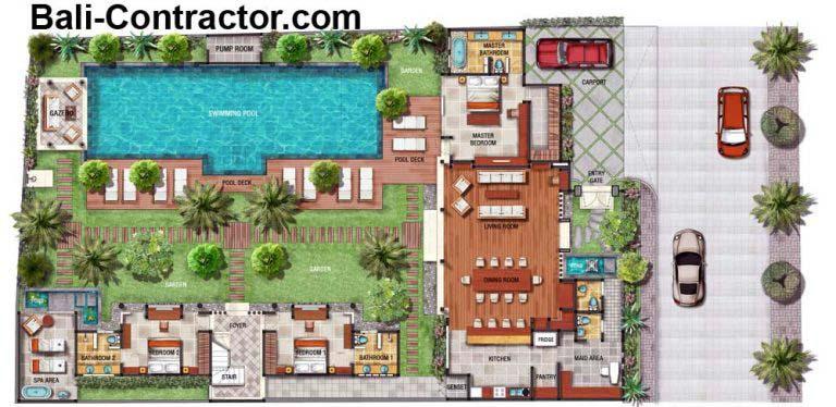 Floor Plan Villa Bali